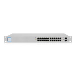 Ubiquiti Unifi Switch 24 poorten 250W POE Top Angle