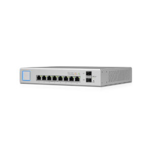 Ubiquiti Unifi Switch 8 poorten Gigabit 150W POE Left Angle