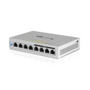 Ubiquiti Unifi Switch 8 poorten Gigabit 60W POE Top Angle