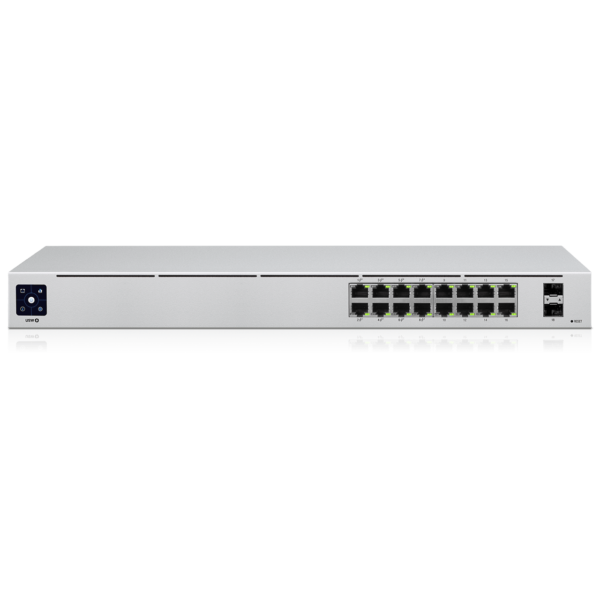 Ubiquiti Unifi Switch 16 poorten Gigabit POE Top Angle